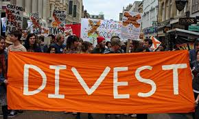 Picture from a Fossil Free UK protest in Oxford.