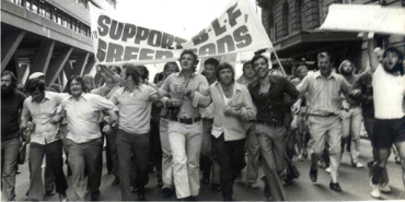 A photo from the Australian Green Bans trade union campaign in the 1970s.