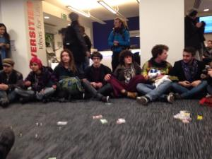 A flash occupation of the lobby of Universities UK.