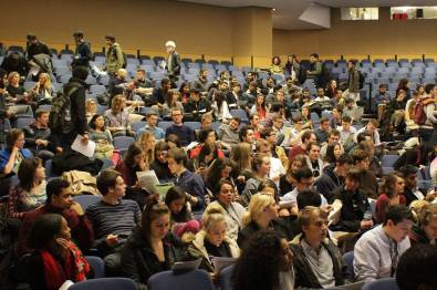 A photo from the last General Assembly, December 2014. Join the January Assembly to help vote for more liberation officers at UCLU!